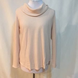 Pink thermal cowl neck shirt. NWT!